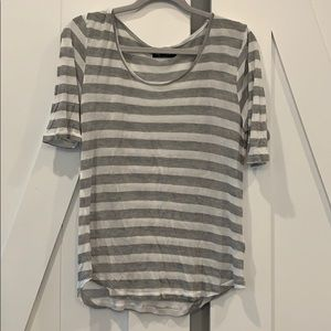Sheer stripes tee